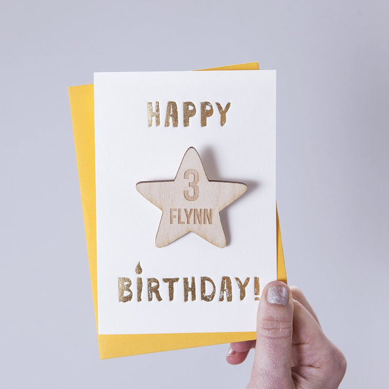 STAR BADGE BIRTHDAY CARD