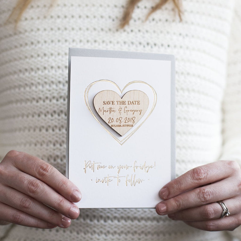 LUXURY SAVE THE DATE HEART MAGNET CARDS-clouds-and-currents