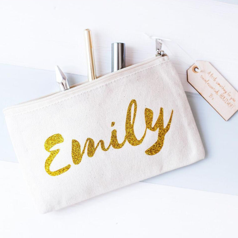 NAME MAKEUP BAG
