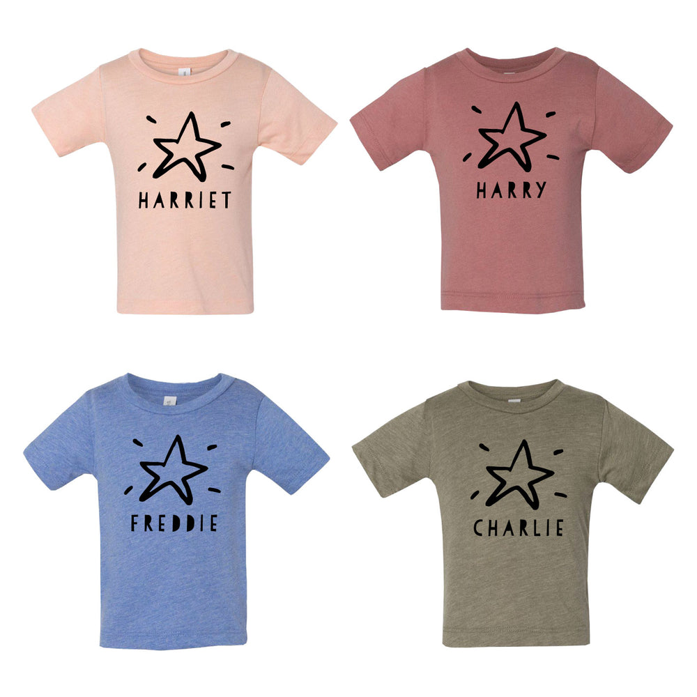 Personalised Kids Christmas Star ShirtClouds and Currents
