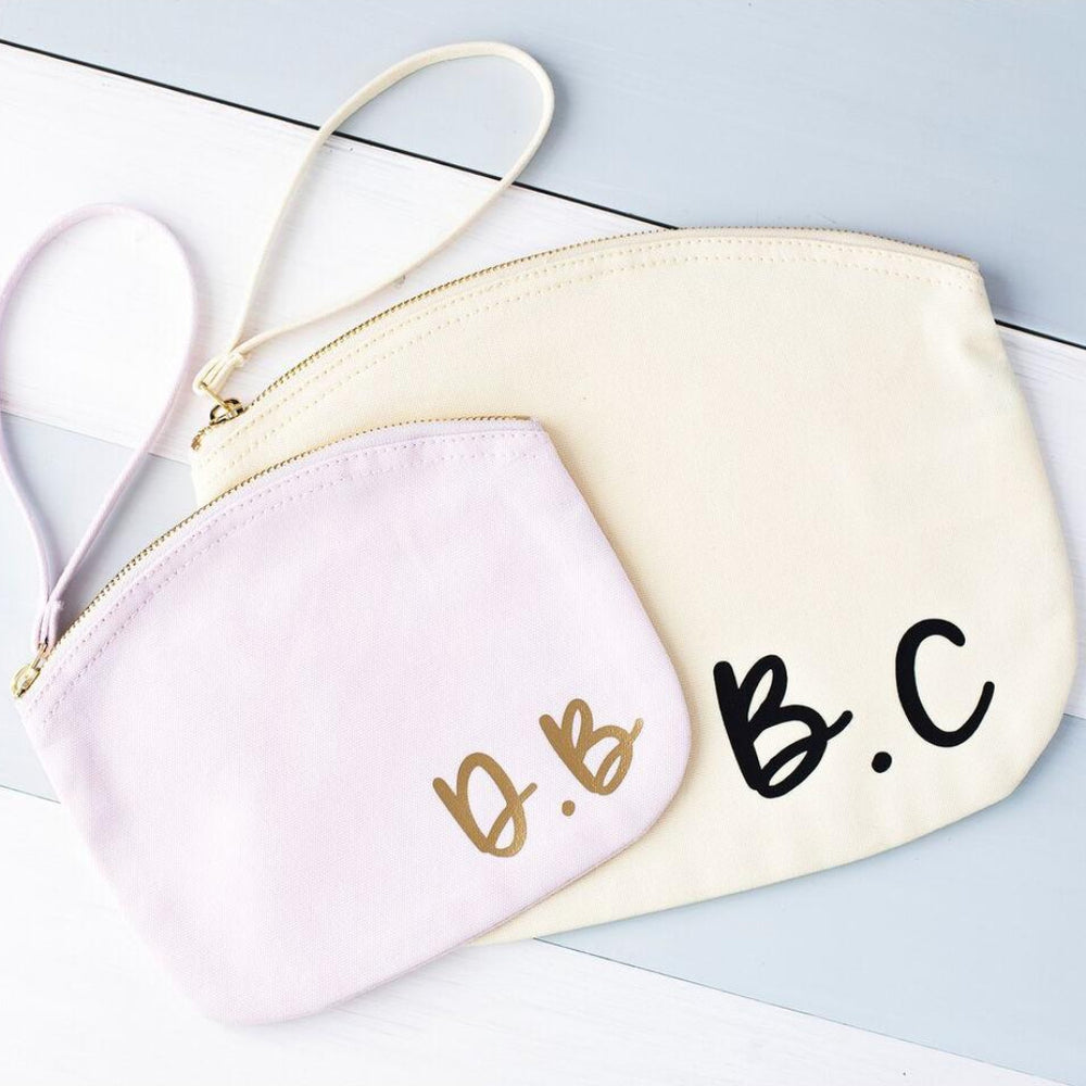 Initials Pastel Makeup BagClouds and Currents
