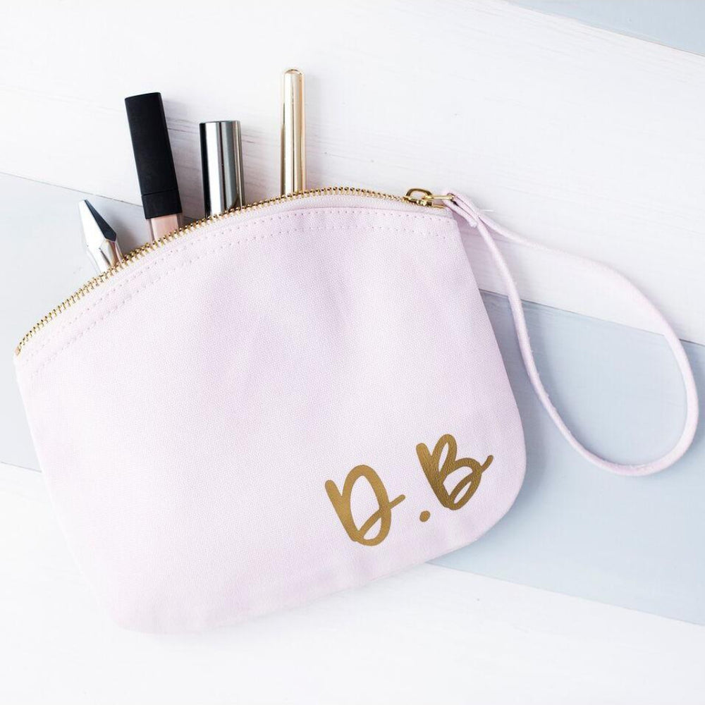 Initials Pastel Makeup Bag