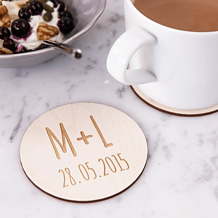 Couples Initials Coasters