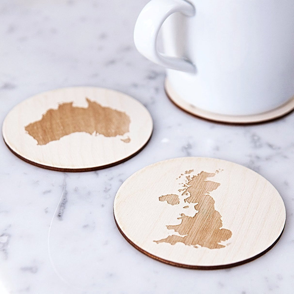 Country Map Coasters