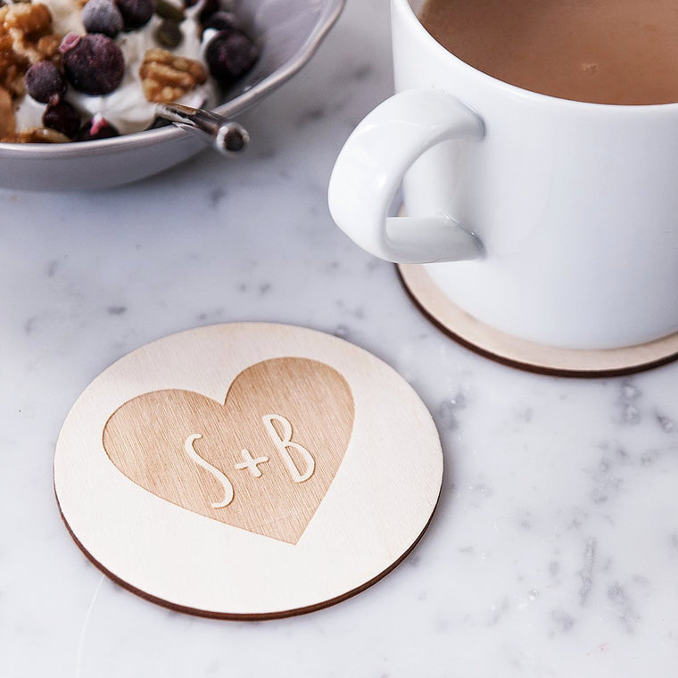 COUPLES HEART COASTERS
