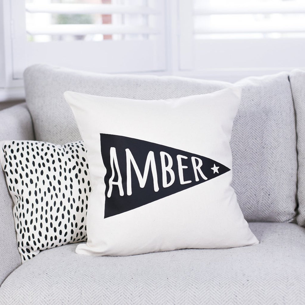 Personalised Nursery Flag Cushion
