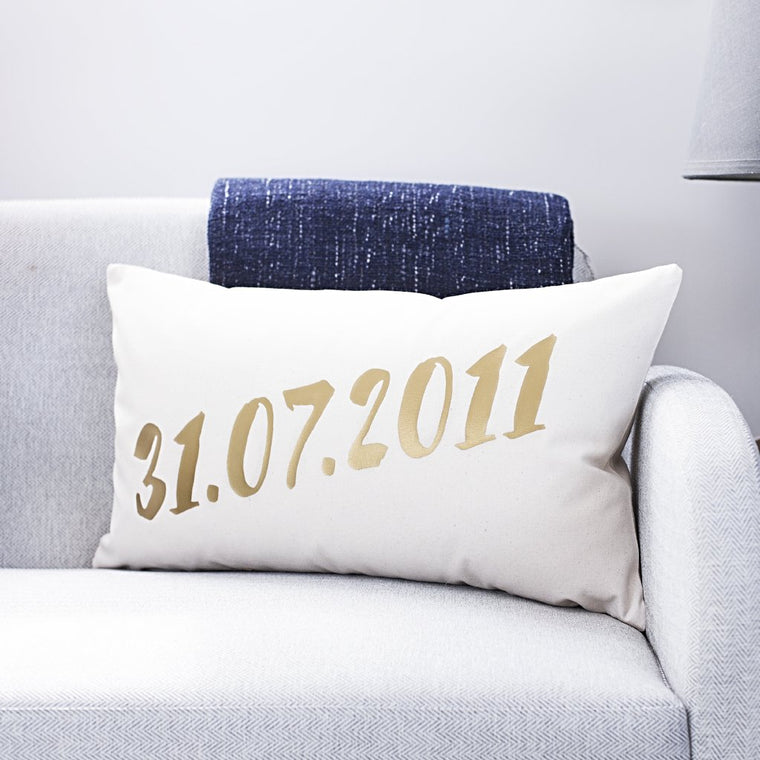 WEDDING DATE CUSHION