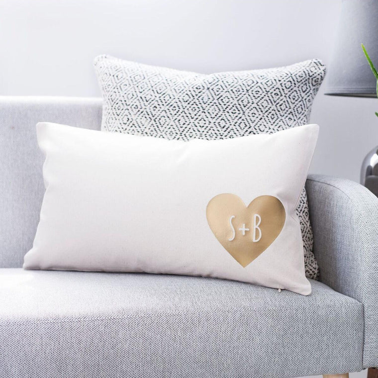Couples Heart Cushion