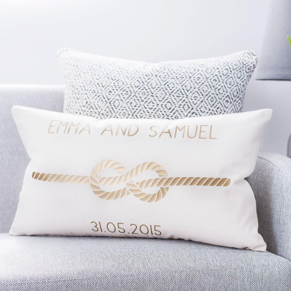 Couples Infinity Knot Cushion