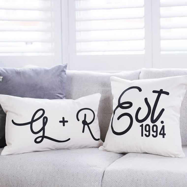 COUPLES ANNIVERSARY CUSHION SET