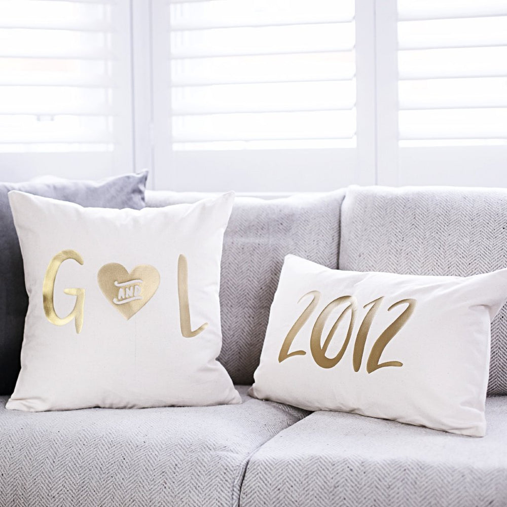 Wedding Year Cushion Set