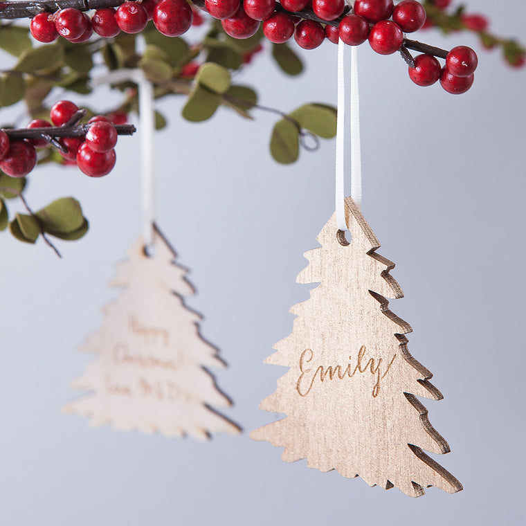 GOLD CHRISTMAS TREE BAUBLE DECORATION