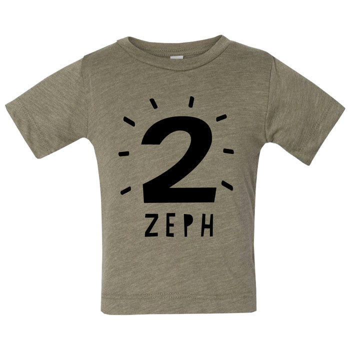 Personalised Kid's Birthday Age T-Shirt-clouds-and-currents