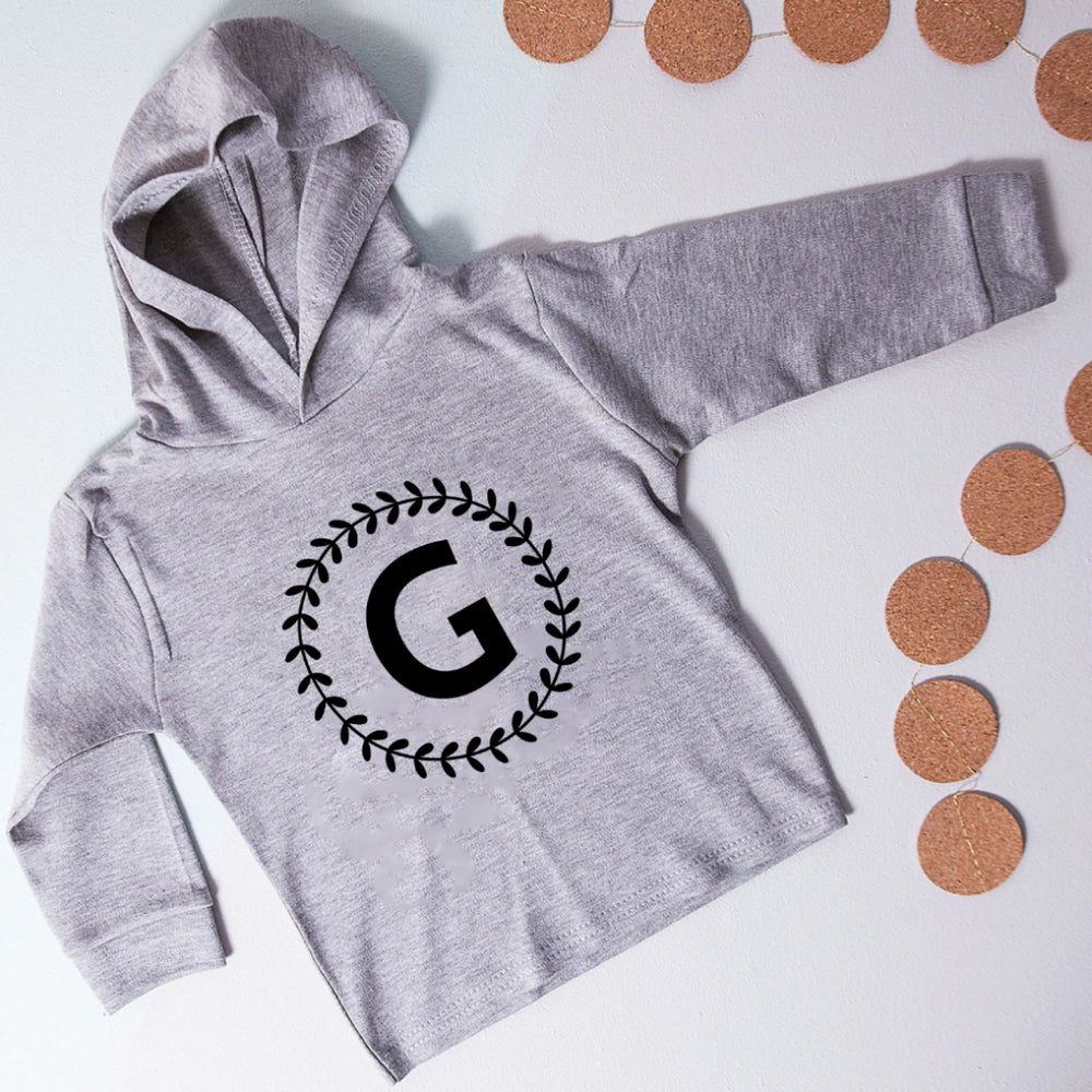 CLEARANCE 'G' Initial Wreath Kid's Hoodie