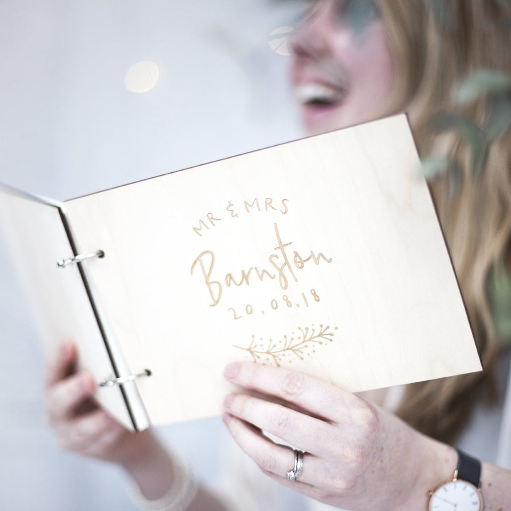 Bespoke Couples Wedding Guest Book