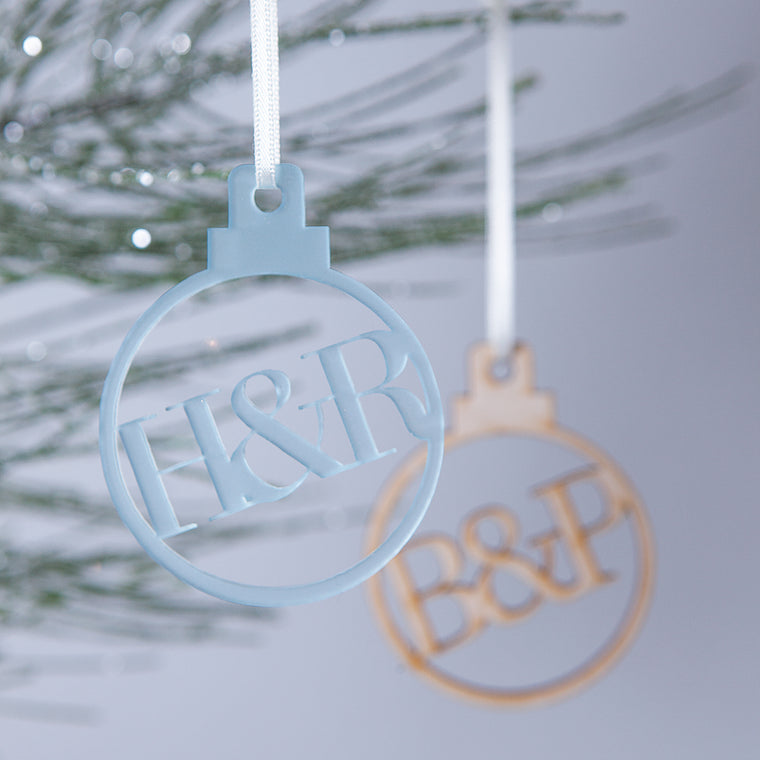 Ampersand Couples Christmas Bauble-clouds-and-currents