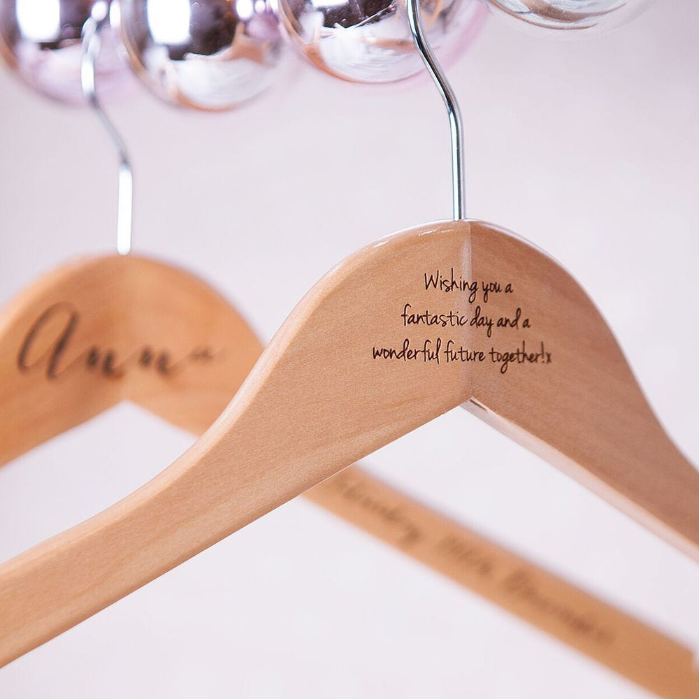 Engraved Wedding HangerClouds and Currents