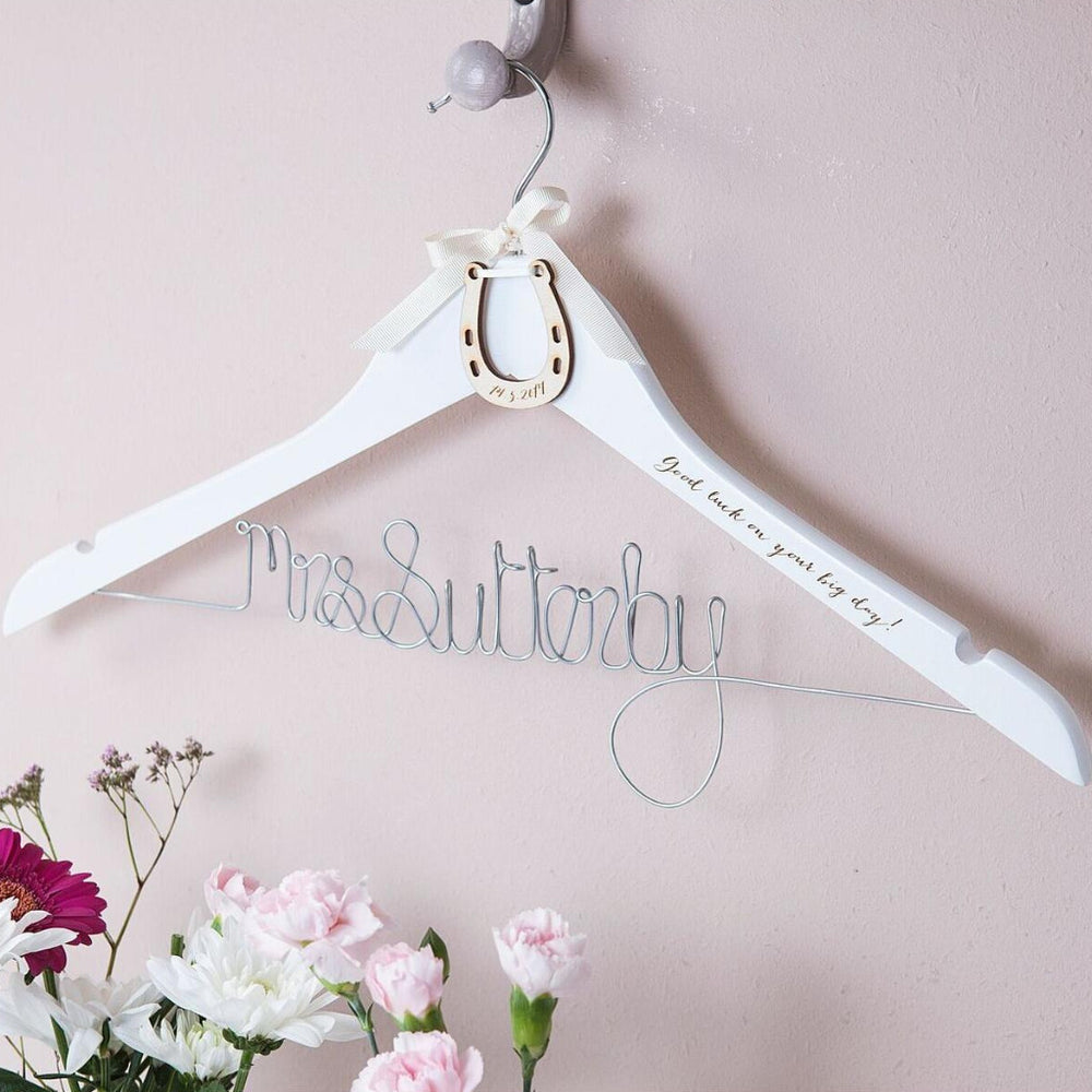 Lucky Horseshoe Wedding Hanger