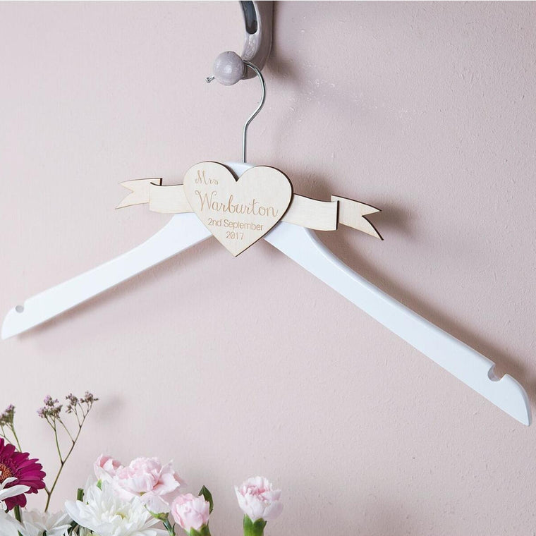 ENGRAVED WEDDING DRESS HANGER