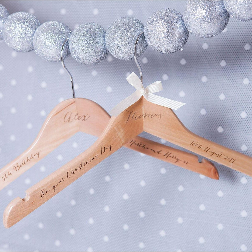 Engraved Christening HangerClouds and Currents
