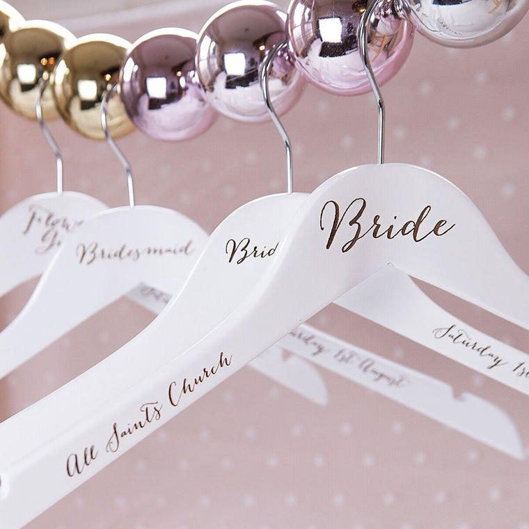 Engraved Wedding Hanger