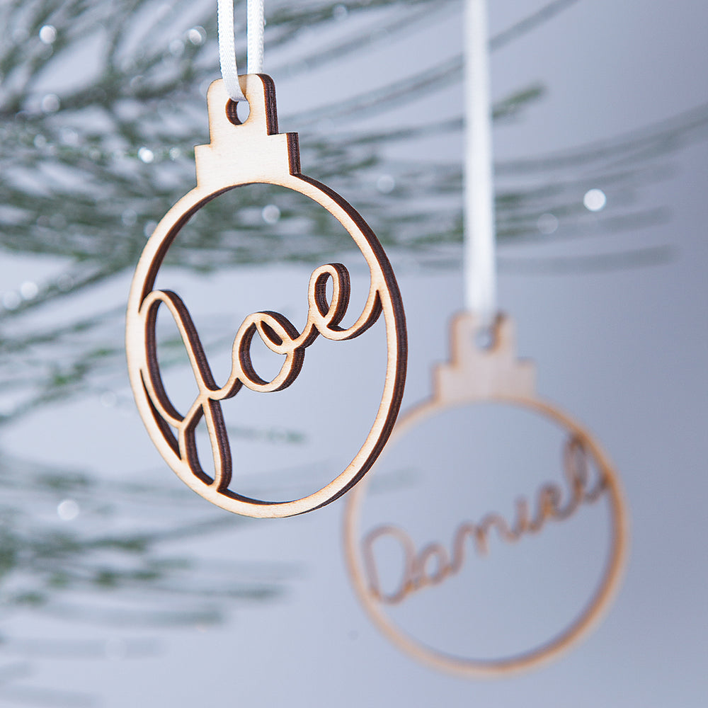 Personalised Christmas BaubleClouds and Currents