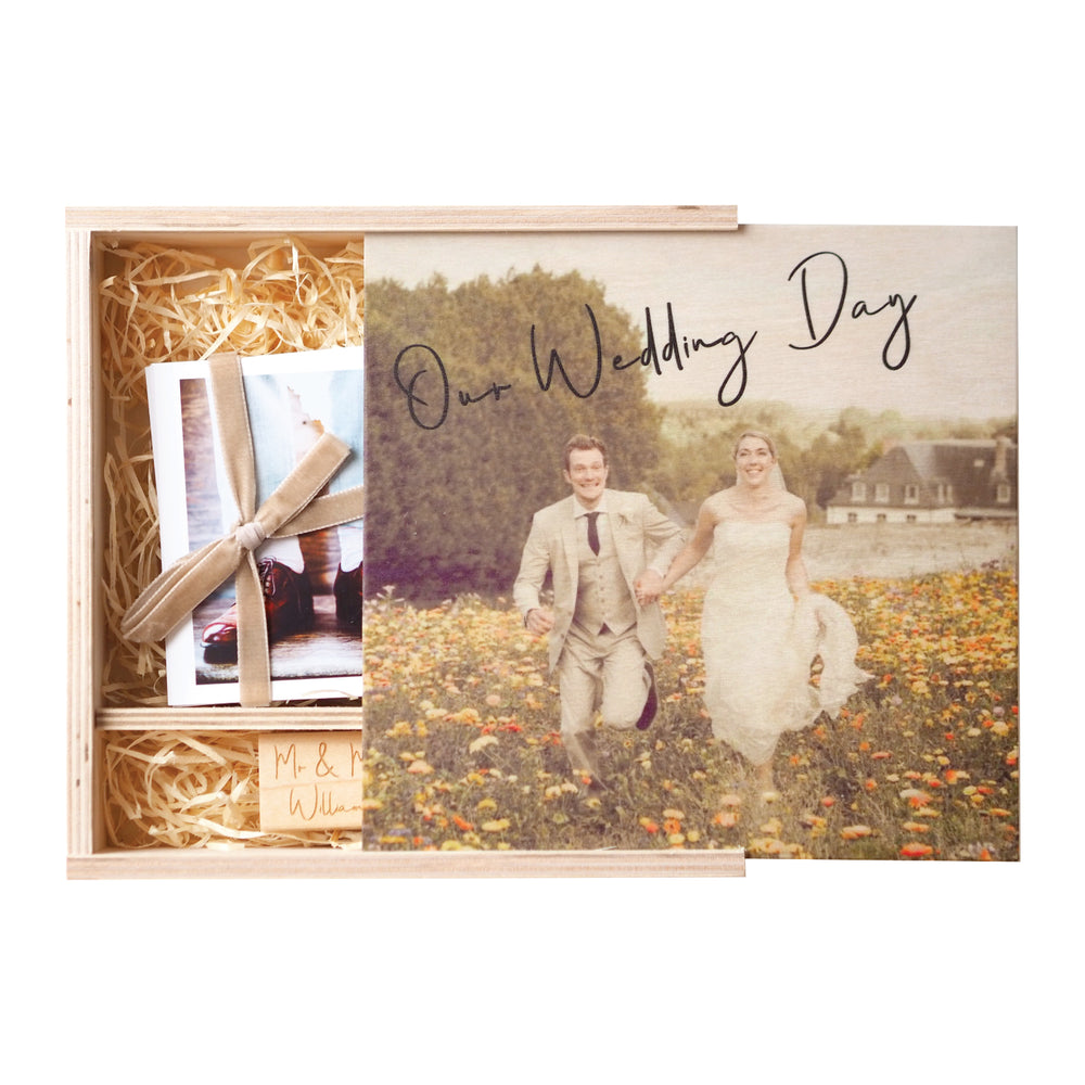 NEW Personalised Wedding Photograph Memory Box