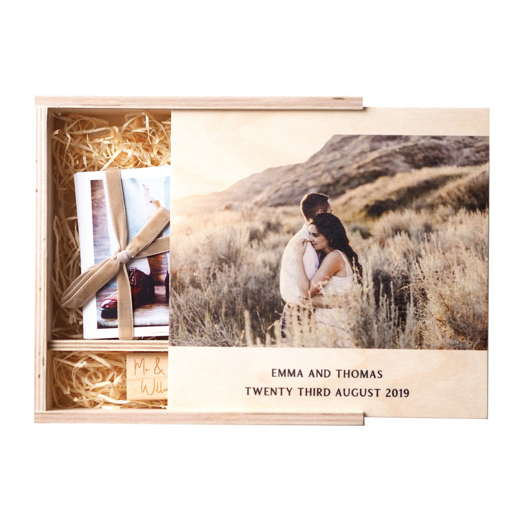 Personalised Wedding Photo Box