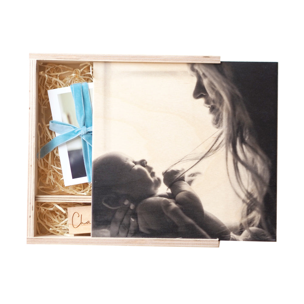NEW Personalised Photograph Wooden Keepsake Box