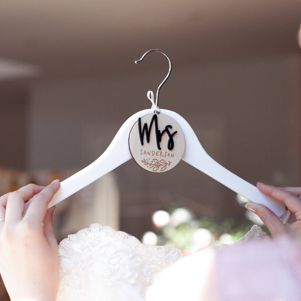 Bride Wedding Hanger CharmClouds and Currents