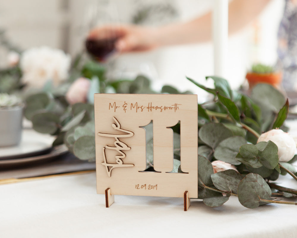 Wooden Wedding Table NumbersClouds and Currents