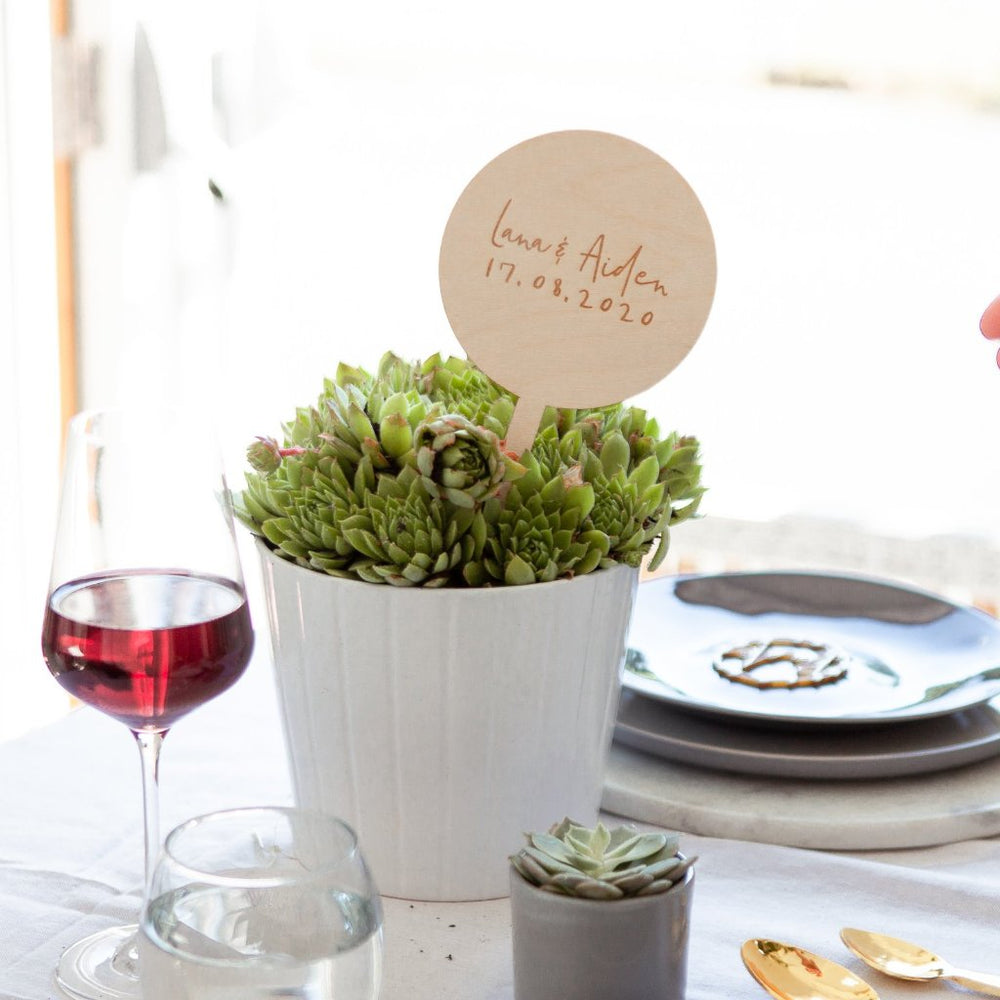 Simple Wedding Table SignsClouds and Currents