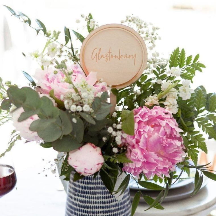CIRCULAR WEDDING TABLE NAMES
