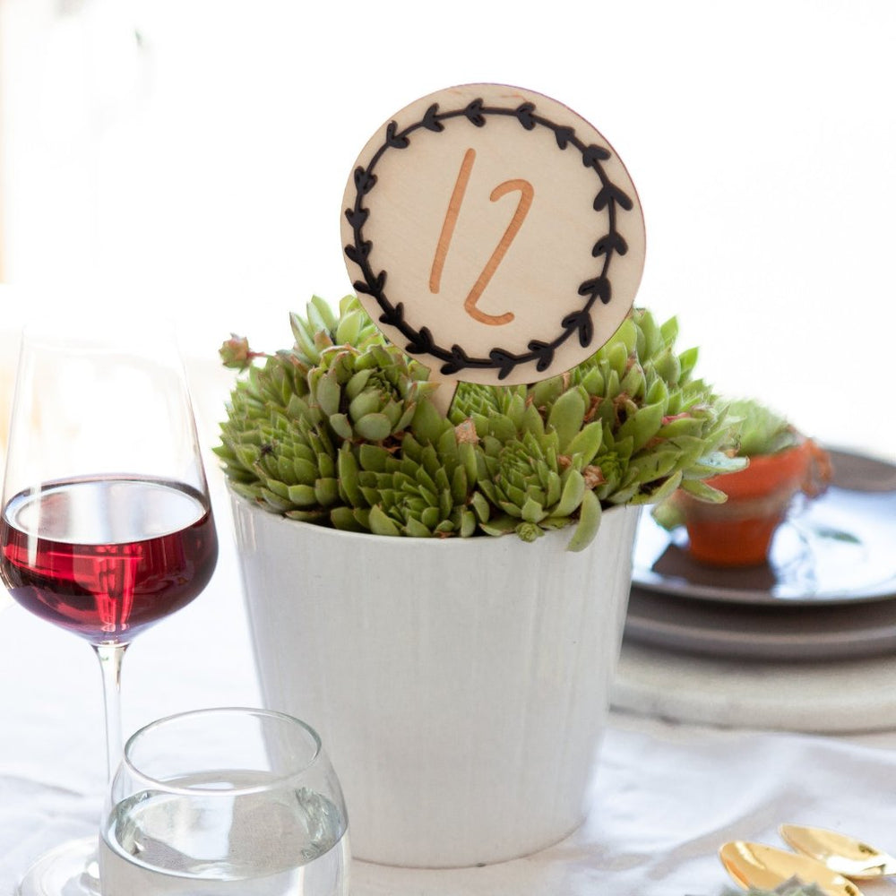 Wreath Wedding Table NumbersClouds and Currents