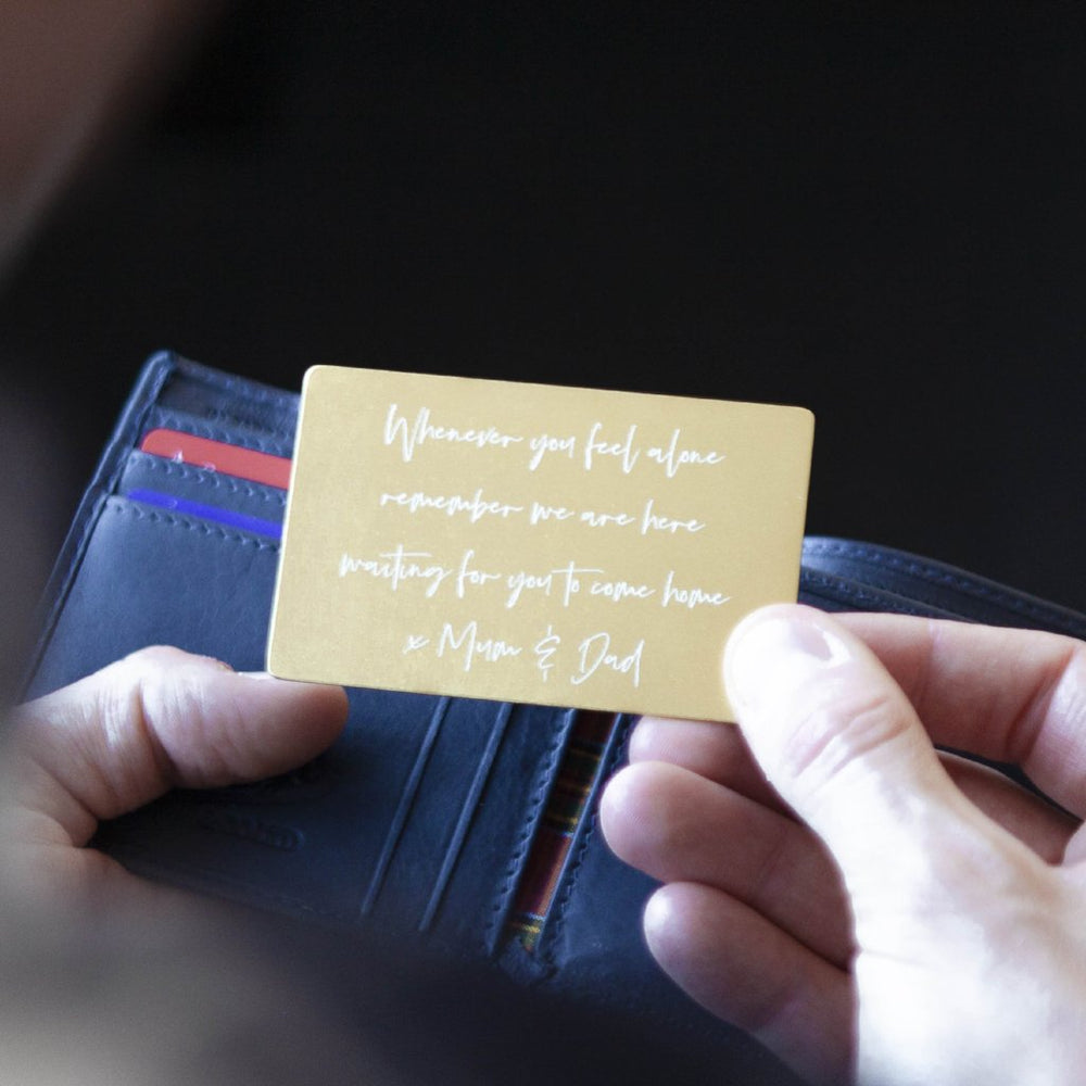 Personal Message Wallet Card