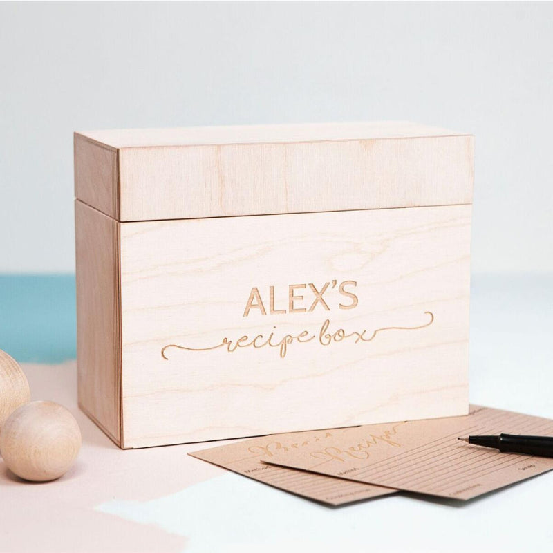 WOODEN RECIPE BOX-clouds-and-currents