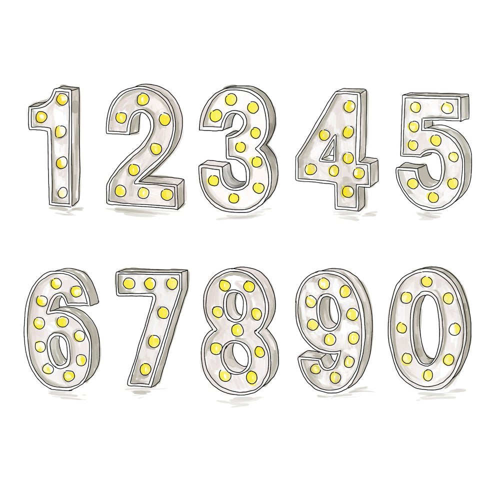 Personalised 'Year You Were Born' Lights Birthday CardClouds and Currents