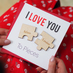 Love You To Pieces Magnet Card