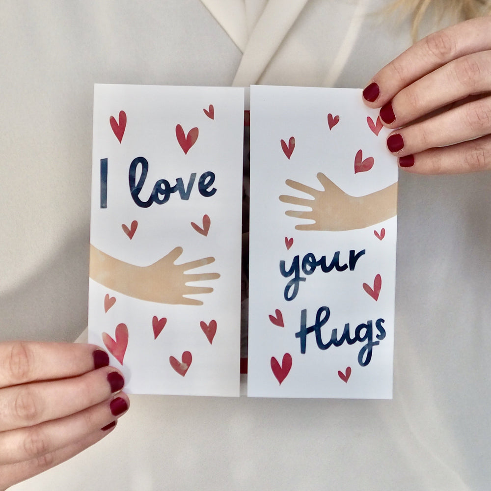Personalised Love Your Hugs Mother's Day Card