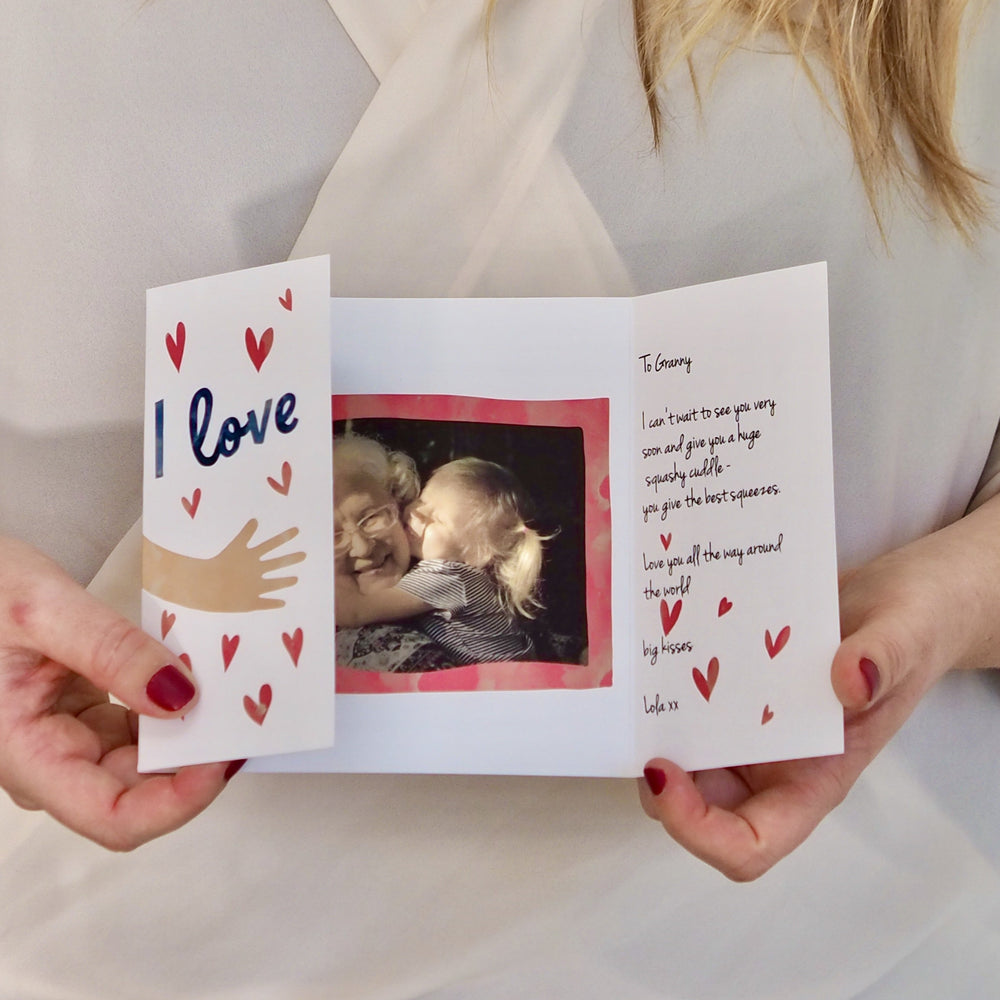 Personalised Love Your Hugs Valentines CardClouds and Currents