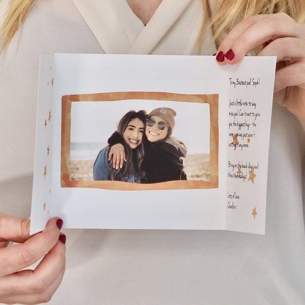 Personalised Can't Wait To Hug You Photo CardClouds and Currents