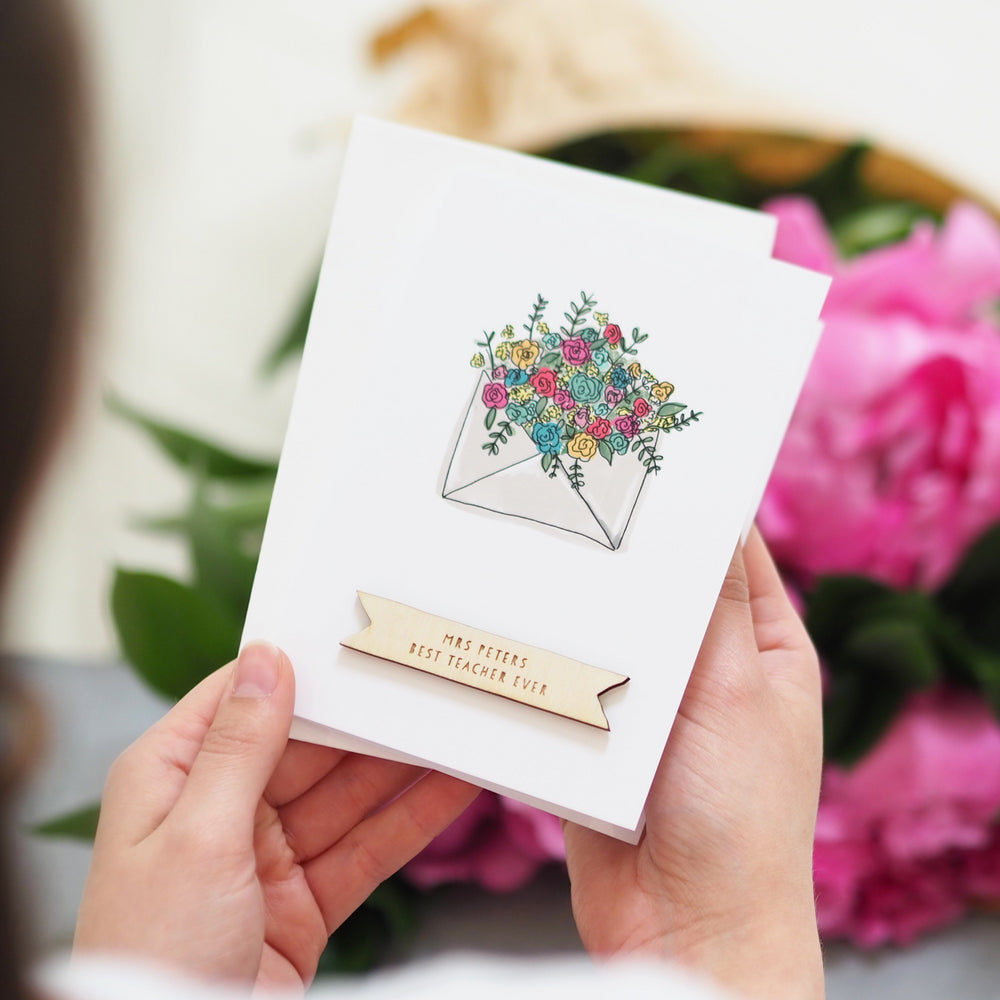 Personalised Floral Appreciation Card
