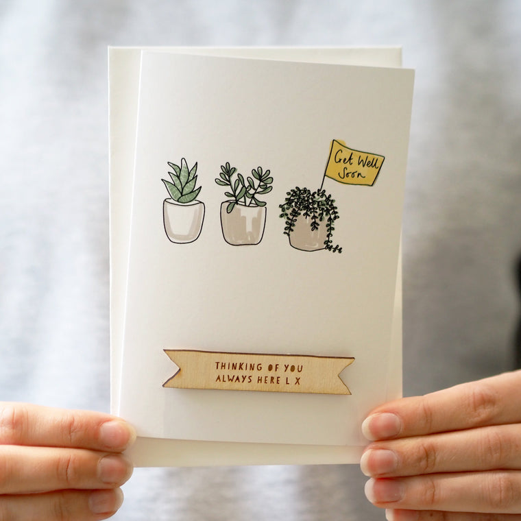 Personalised Plants Get Well Soon Card