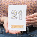 Personalised 21st Birthday CardClouds and Currents