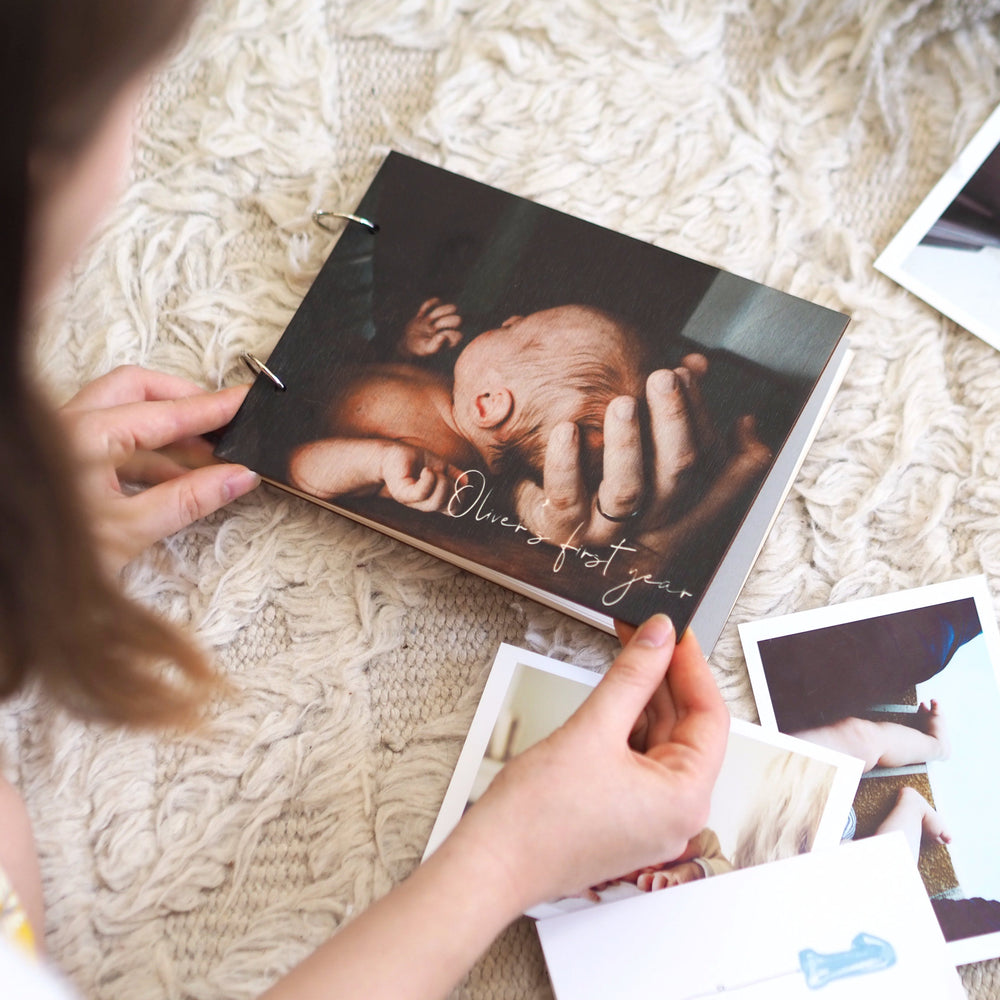 Personalised Photograph New Baby Photo AlbumClouds and Currents