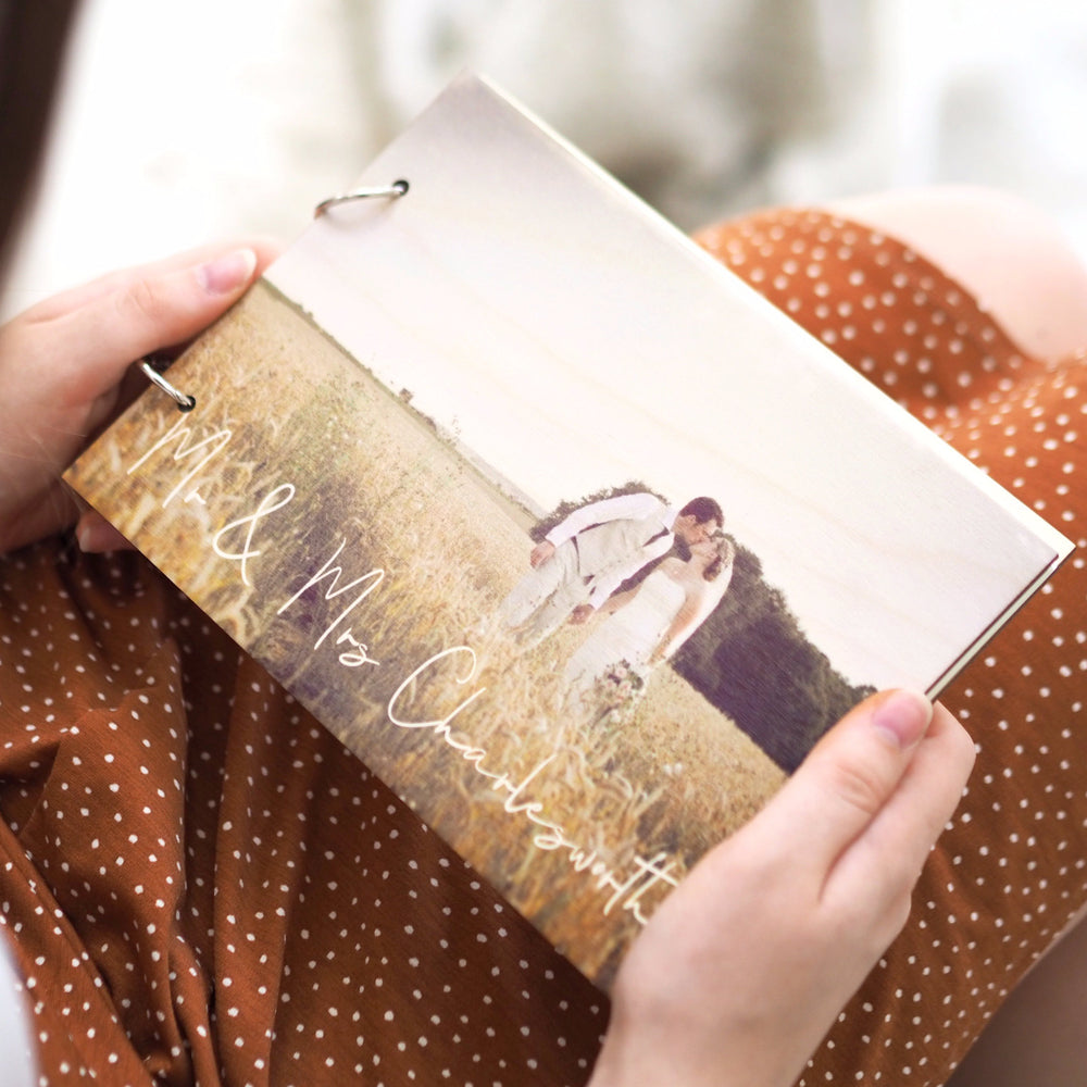 Personalised Photograph Album Wedding BookClouds and Currents