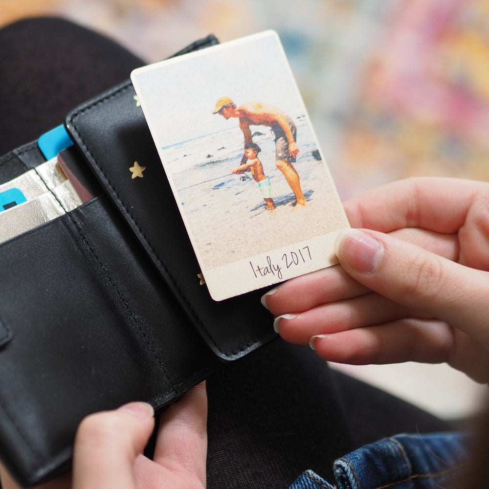 Personalised Photograph Wallet CardClouds and Currents