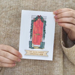 Personalised Door Christmas Card