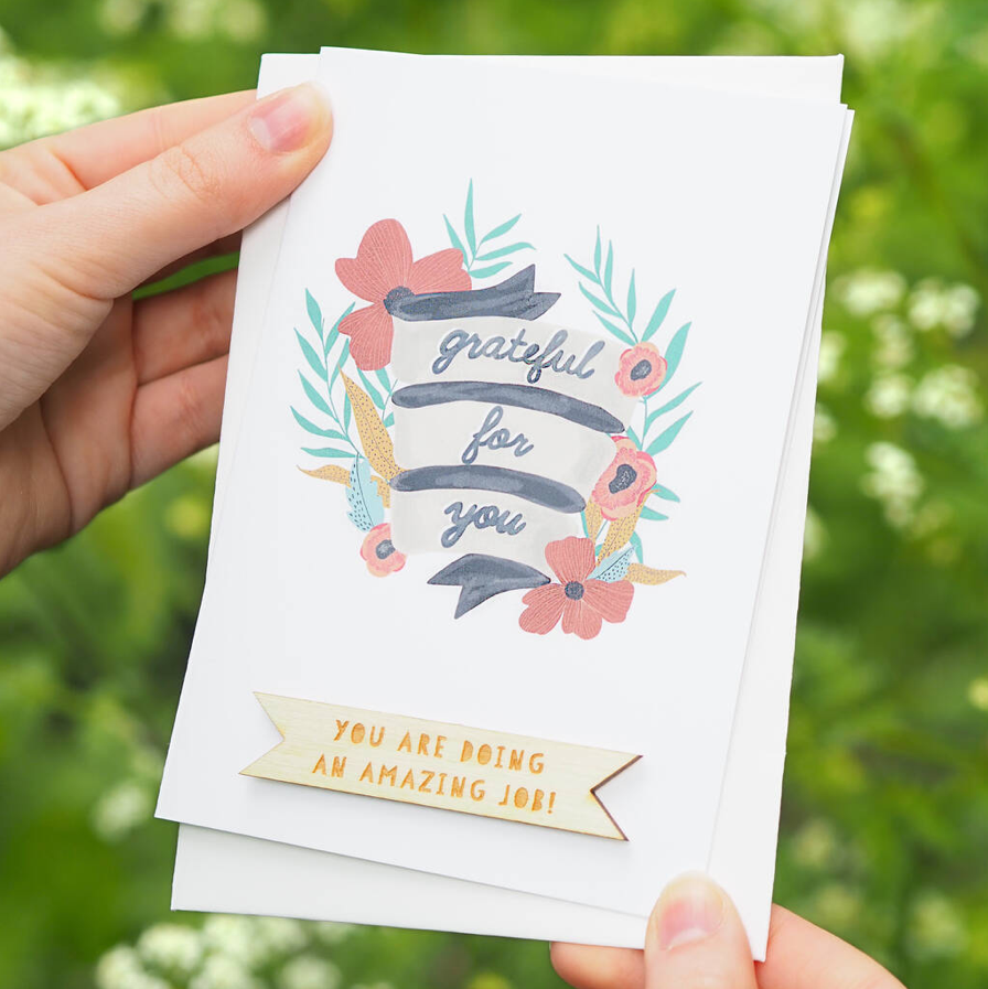Personalised Grateful For You Card