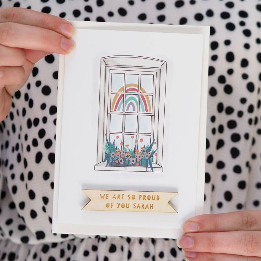 Personalised Rainbow Appreciation Card